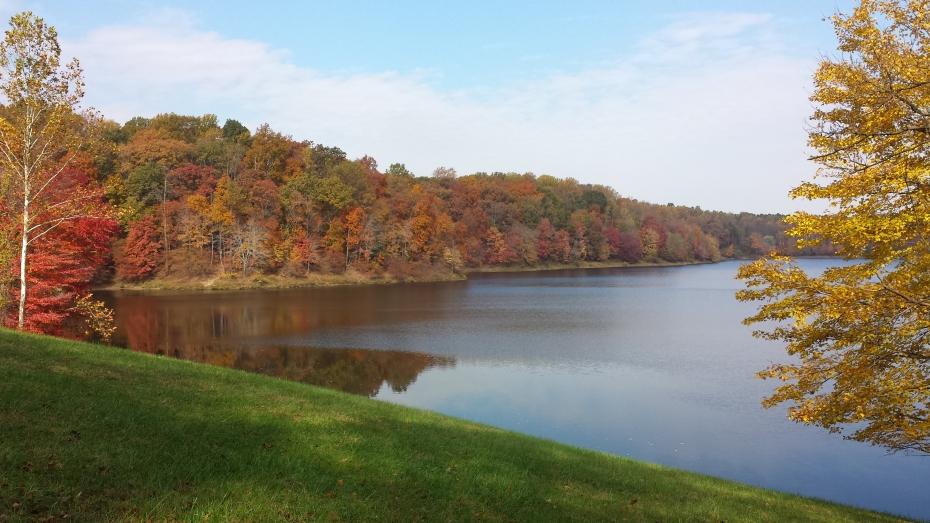 Lake Frank, just east of Rockville, Maryland in October.