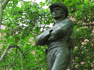 Confederate Soldier Memorial at Red Brick Courthouse, Rockville.